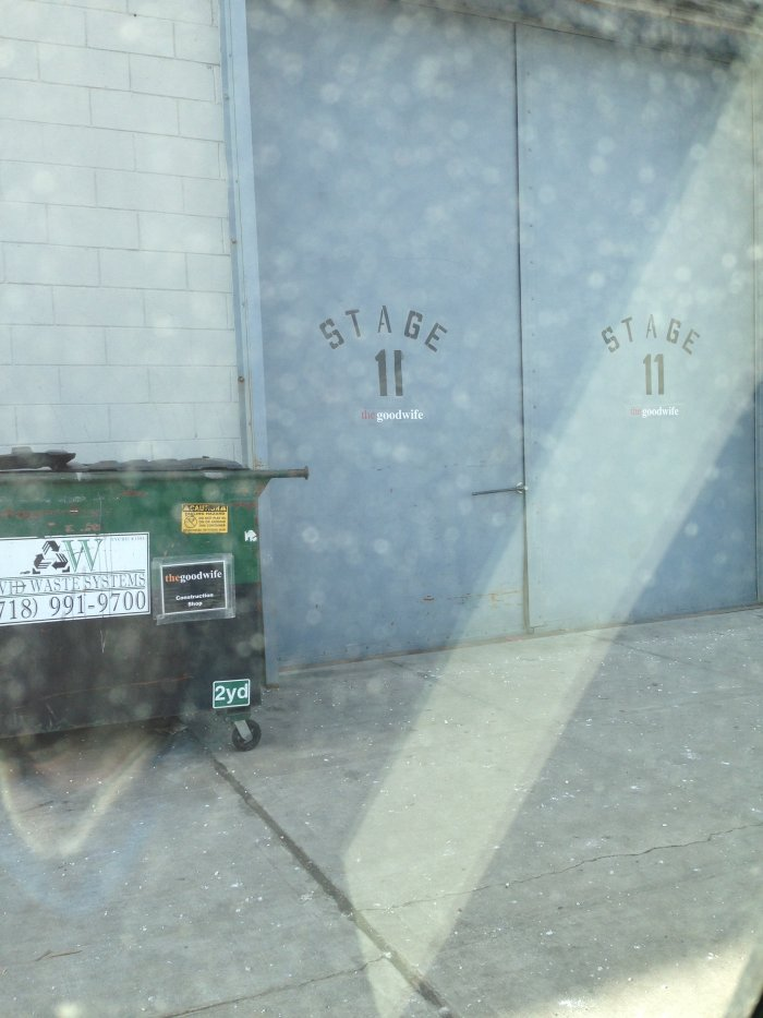 First day on the job and of course we park outside stage number 11...