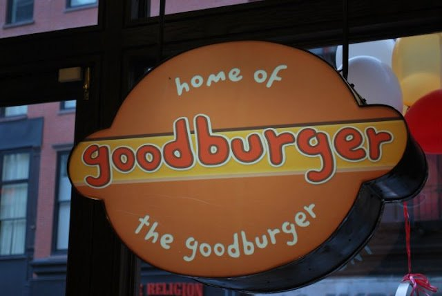 Welcome to Goodburger, home of the Goodburger, Can I take your order? very sad they didn't greet me with that