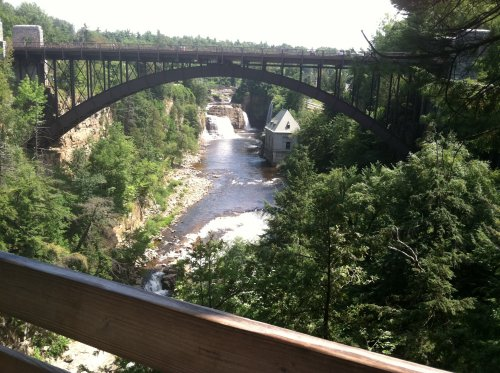 now you see ausable chasm..